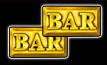 Bar symbolen op de gokkast